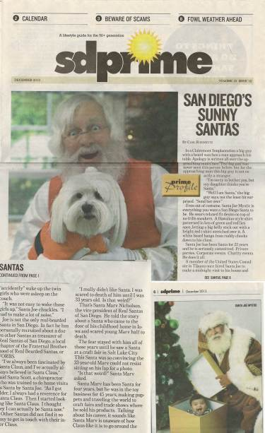 San Diego's Sunny Santas