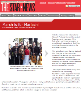 march is for mariachi