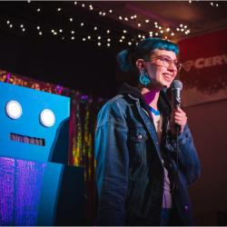 carl robinette news robot comedy