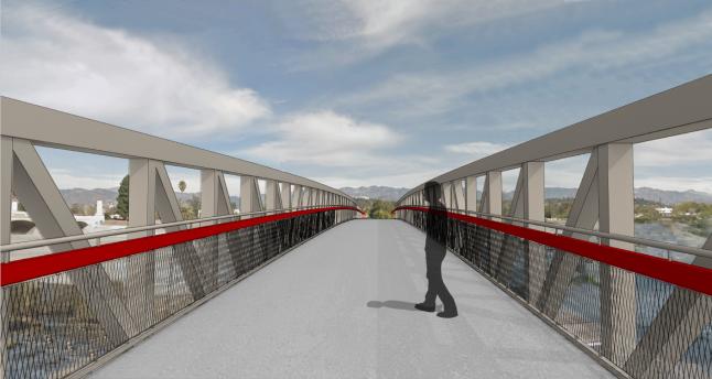 carl robinette news journalism los feliz ledger bridge photo red car trolley bridge