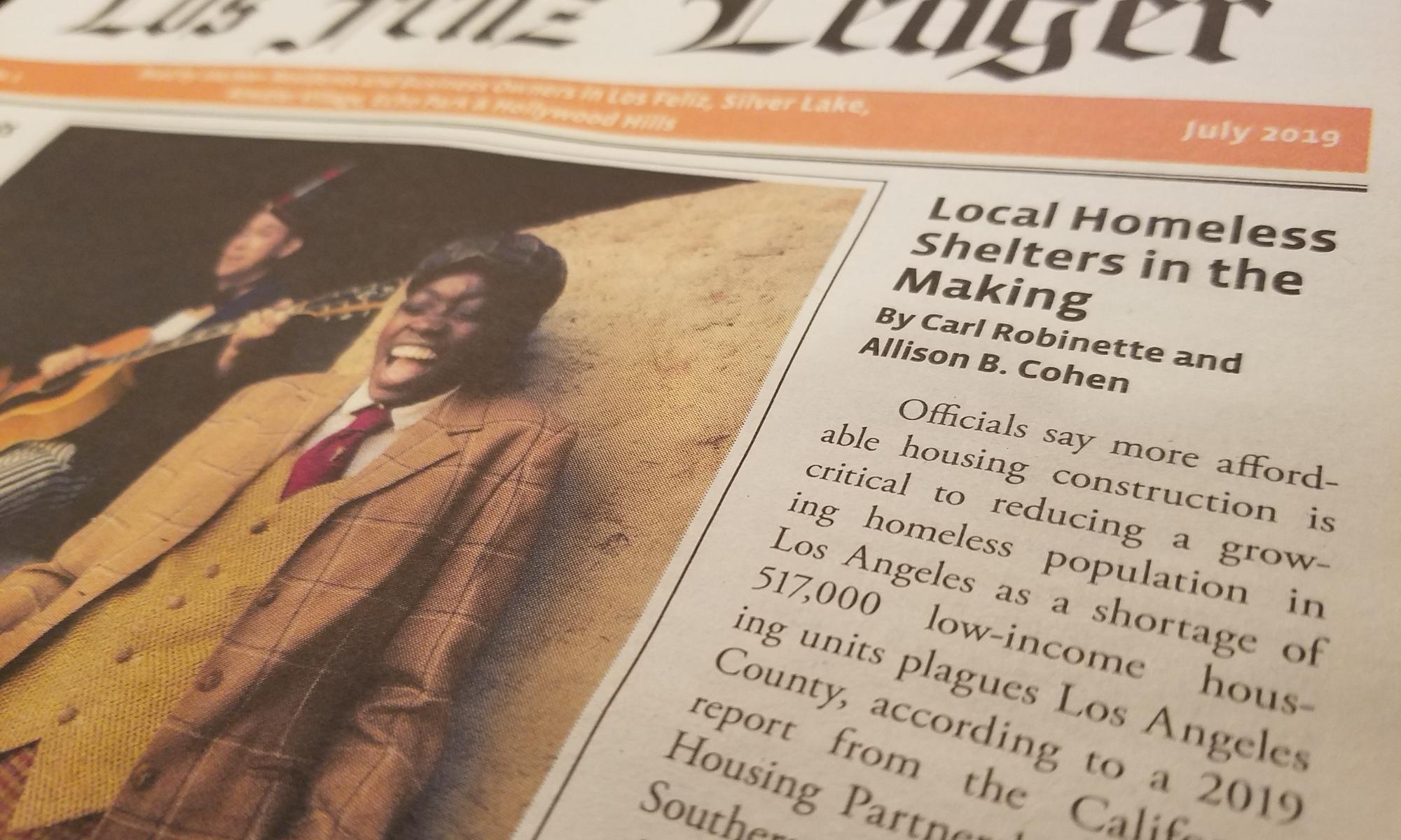 homeless housing news los feliz ledger carl robinette silver lake los feliz atwater village hollywood