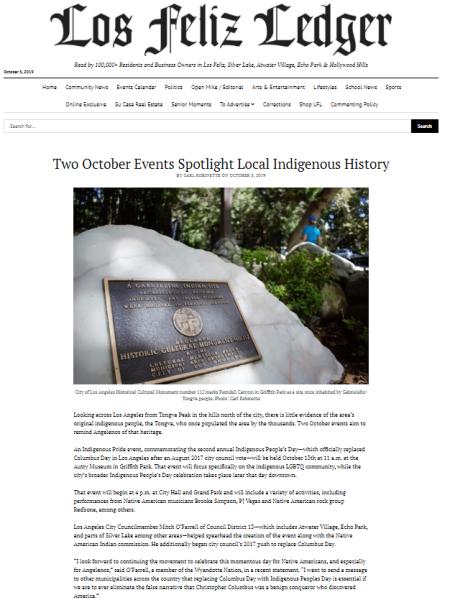 carl robinette news los feliz indigenous peoples day los angeles