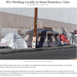 Combating Homelessness at the Neighborhood Level